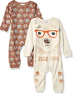 Quiltex Boys Toddler Baby Lion Print Cute Novelty Coverall 2 Pack Set
