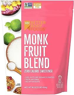 BetterBody Foods Monk Fruit Blend Zero Calorie Sweetener, 1 lb