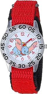 Disney Girls Dumbo Analog-Quartz Watch with Nylon Strap, red, 19.4 (Model: WDS000640