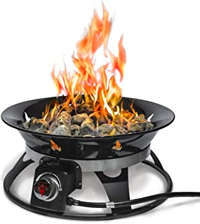 Outland Firebowl 863 Cypress Outdoor Portable Propane Gas Fire Pit with Cover & Carry Kit, 21-Inch Diameter 58,000 BTU