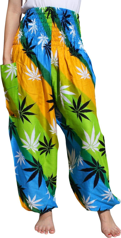 Full Funk Raleigh Mall Harem Boho Finally popular brand Yoga Pants Rayon Women Pocket Yog for Big