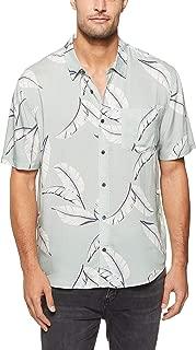 Wrangler Men's GARAGELAND Shirt Tonal Palms, Multi