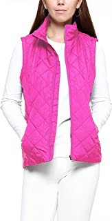 Women's Vest-Lightweight Quilted High Collar Zip Vest Padded Gilet