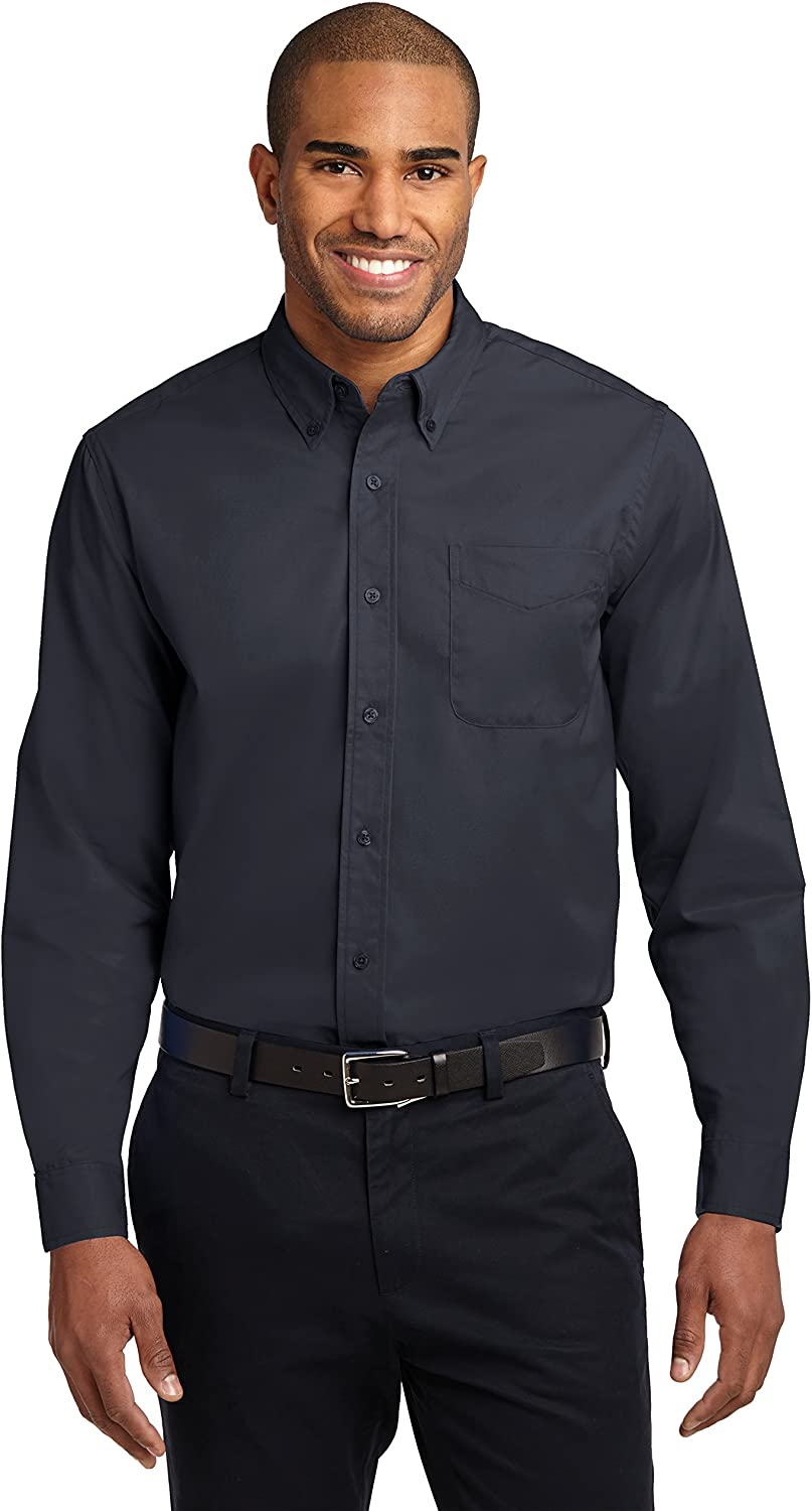 Big Mens Tall Size Long Sleeve Easy Care Shirt