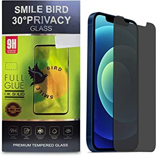 SIMLE BIRD 30° Privacy Glass, Premium Tempered Glass Screen Protector, Anti-Scratch, Bubble Free, Face-ID, 9H Hardness, Sc...