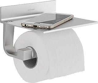 comprar comparacion Wangel Portarrollo para Papel Higiénico, Pegamento Patentado + Autoadhesivo, Aluminio, Acabado Mate (Versión Actualizada)