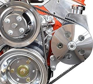 SBC POWER STEERING PUMP BRACKET Billet Adjustable LWP 350 Small Block Chevy 551522