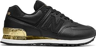 (ニューバランス) New Balance 靴・シューズ レディースライフスタイル 574 Gold Dip Black with Metallic Gold ブラック メタリック ゴールド US 6.5 (23.5cm)