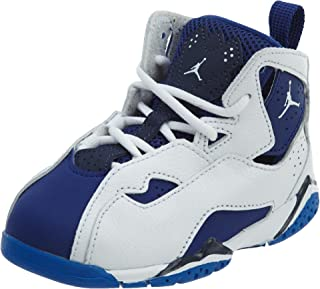NIKE Toddler Boy's Jordan True Flight, White/White-Deep Royal Blue, 8C