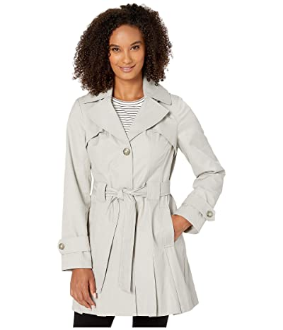 Via Spiga Single Breasted Hooded Belted Trench (Silver) Women