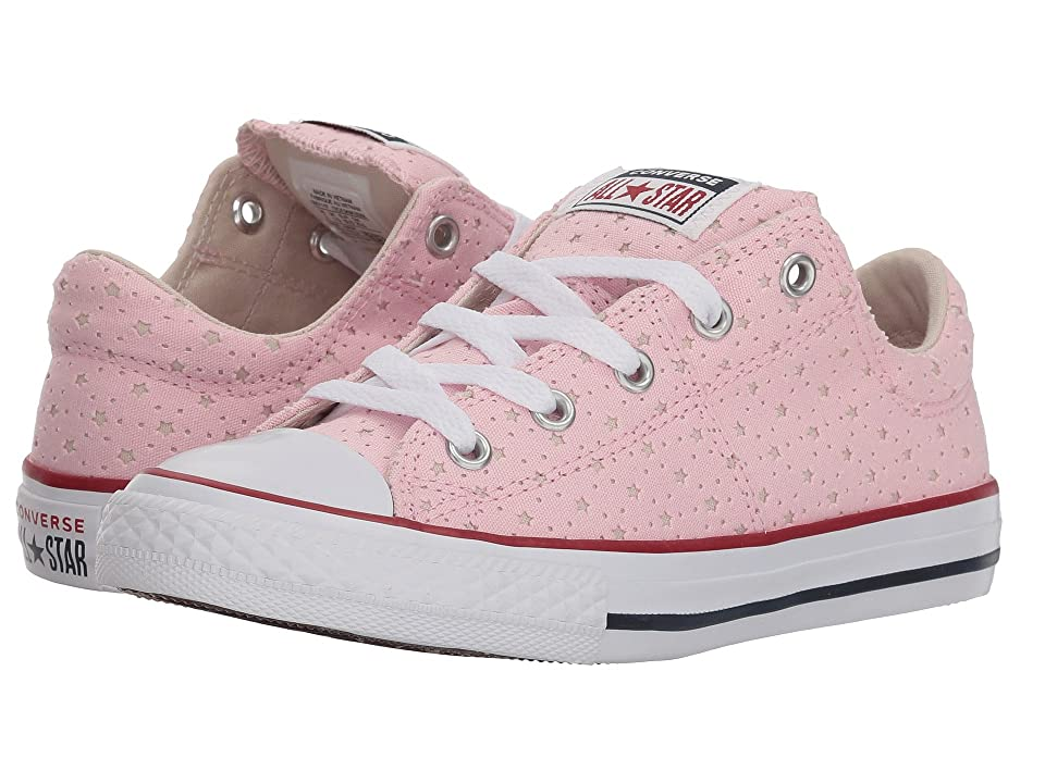 Converse Kids Chuck Taylor(r) All Star(r) Madison Star Perf Canvas Ox (Little Kid/Big Kid) (Cherry Blossom/Driftwood/White) Girls Shoes