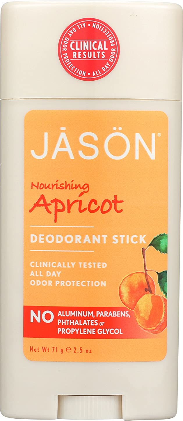 リスクほぼ文法Jason Natural Products Apricot & E Baking Soda Stick Deodorant 75 ml (並行輸入品)