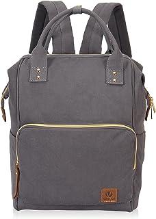 Veegul Men Backpack Women Daypack Canvas School Backpack Travel Bag Fashion Doctor Style Backpack Grey