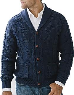 Men's Long Sleeve Shawl Collar Cardigan Sweater