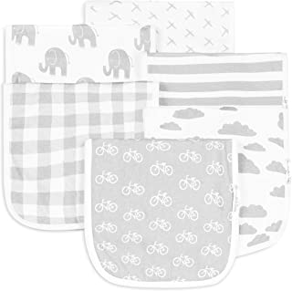 BaeBae Goods Burp Cloths for Baby Boy & Girl - Ultra Absorbent Burping Rags - Anti Shrink Unisex Burpy Clothes - Super Sof...