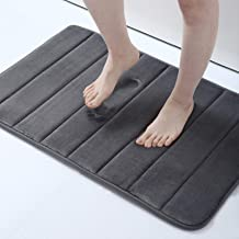 "Memory Foam Soft Bath Mats - Non Slip Absorbent Bathroom Rugs Rubber Back Runner Mat for Kitchen Bathroom Floors 20"" x 3..."