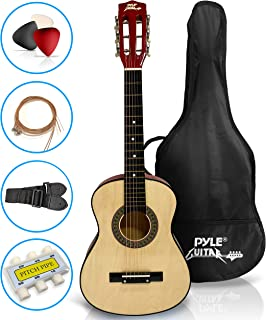 "Beginner 30"" Classical Acoustic Guitar - 6 String Linden Wood Traditional Style Guitar w/ Wood Fretboard, Case Bag, Nylon ..."