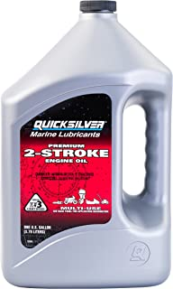 Quicksilver 858022Q01 Premium Two-Cycle TC-W3 Oil - Outboards, Personal Water Craft (PWC's), Snowmobiles, Motorcycles and Chainsaws, 1 Gallon Jug