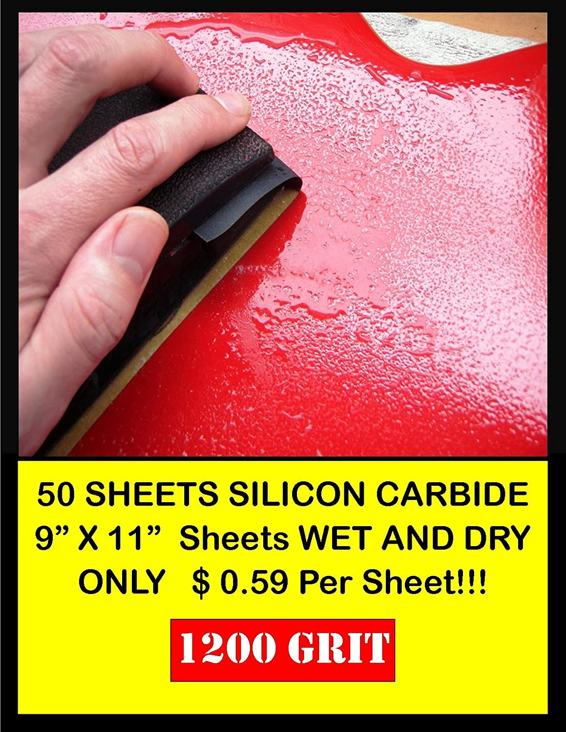 Fuji Star 50 Sheet Wet Dry Limited price sale Carbide Albuquerque Mall Pap Grit 1200 Silicone Sand