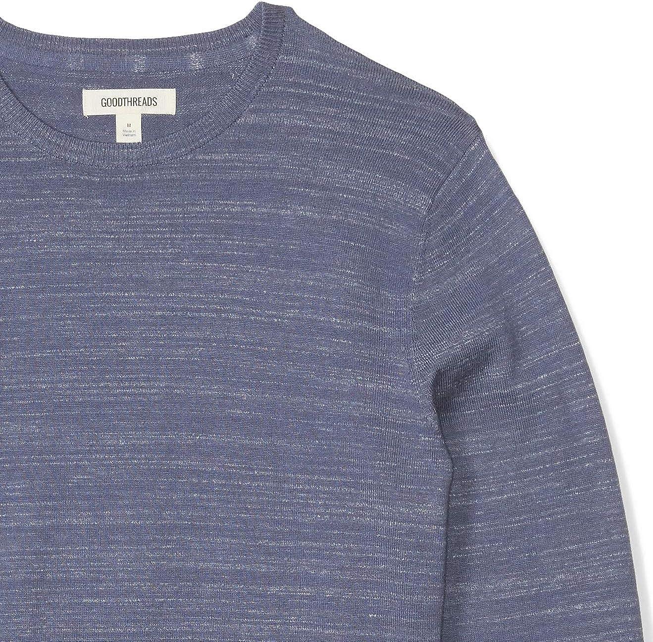 Goodthreads Men's Soft Cotton Crewneck Summer Sweater