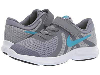 Nike Kids Revolution 4 (Little Kid) (Cool Grey/Blue Fury/Pure Platinum/Black) Boys Shoes