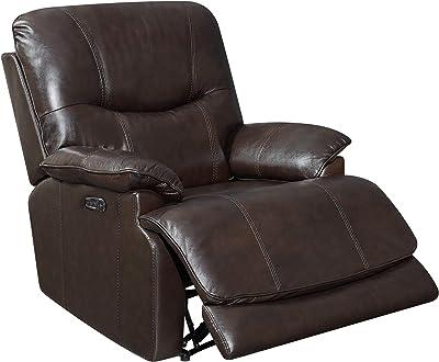 Sunset Trading Baltic Headrest and Lumbar-Espresso Dark Brown Power Reclining Chair, Expresso