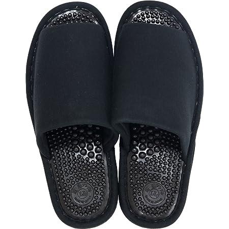オカ 洗える 健康スリッパ ユニセックス LLサイズ (足のサイズ約25.5cm〜26.5cm) (ブラック)