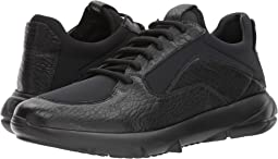 Emporio Armani - Textured Leather/Neoprene Sneaker