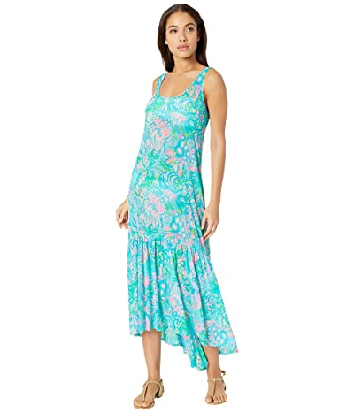 Lilly Pulitzer Camellia Cover-Up (Blue Ibiza Aqua La Vista) Women