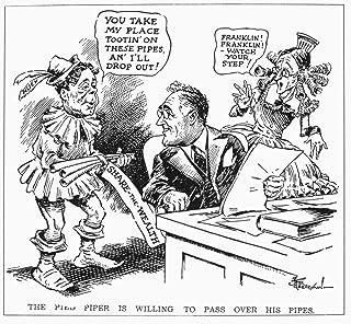 Cartoon Roosevelt 1934 Npresident Franklin D Roosevelt Displaying Some Interest In Adopting The Share The Wealth (IE Soak ...