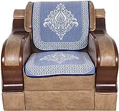 S N TRADERS Cotton 6 Pcs Reversible Sofa Slip Cover Set of 5 Seater (3+1+1) – Royal Blue