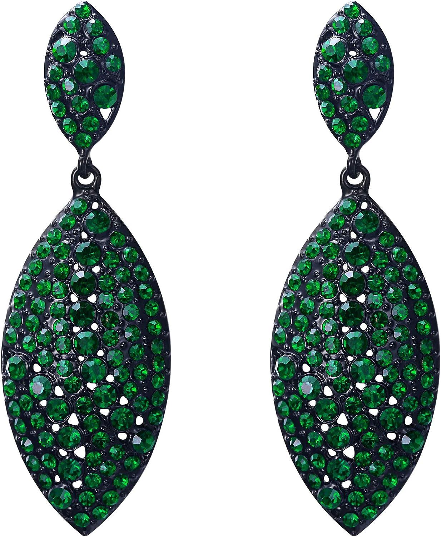 EVER FAITH Women's Bridal Wedding Jewelry Leaf Crystal Dec Direct stock discount 5 popular 2 Art