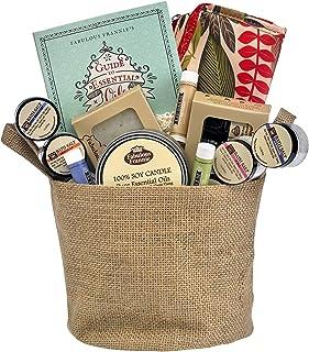 Fabulous Frannie Ultimate Relaxation Gift Basket Includes 3pk 10ml Blends, Travel Bag, 6pk 1oz Bath Salt, 6oz Candle, 4oz ...