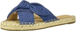 NINE WEST Women's wnBRIELLE7 Flat Sandal, Denim