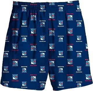 New York Rangers Kids Blue All Over Print Pajama Shorts