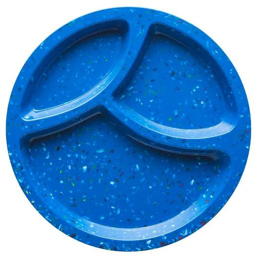 Zak! Designs® Confetti 8in Melamine Divided Plate Cornflower Blue : Target