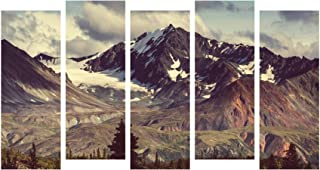 Paper Plane Design Photo Frames for Wall Decoration Mountain Scenery View Picture Split Panels Art Decor Set of Paintings ...