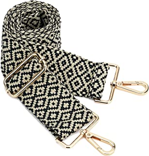 ZOUIQSS Damen Goldfarbene Bunter Schultergurt längenverstellbarer breiter Tragegurt Schultergurt für Handtaschen 3.8cm bre...