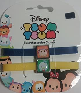 Disney Tsum Tsum Interchangeable Charm Bracelet 2pk Cheshire Cat /& Alice