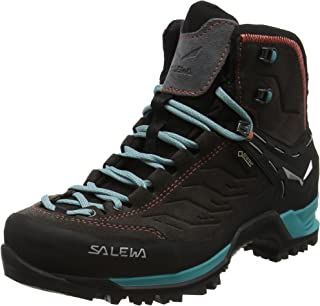 Salewa Women's Mountain Trainer Mid GTX Alpine Trekking Boot | Hiking, Alpine Climbing, Technical Approach | Gore-Tex Breathable Waterproof Protection, Vibram Sole, Durable Leather and Fabric Upper