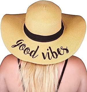 Funky Junque 女士大胆卷曲刺绣可调节沙滩软质遮阳帽