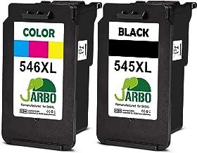 JARBO Remanufactured Cartucce Canon PG-545XL CL-546XL (1 Nero,1 colore) Compatibile con Canon PIXMA MG2550 MG2550S MX495 TS3150 TR4550 iP2850 MG3051 MG3050 MG2950 MG2450 TS205 TS305 TS3151 TR4551