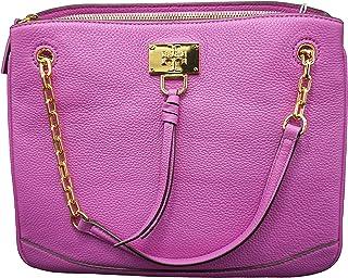 حقيبة يد نسائية من Tory Burch 61460 Eve ناعمة بنفسجية/ذهبية