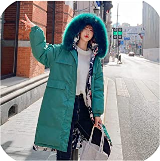 Surprise S 25 Degrees Women Long Jackets Parkas Both Side Wear Thick Warm Big Collar Jacket Coats