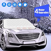 Windshield Snow Cover,Car Windshield Covers for Ice and Frost, Ice Removal Wiper Visor,Guard Windproof/Warterproof Auto Sun Shade for Car Minivan and SUV with Magnetic