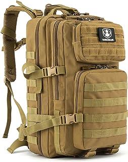Gonex 35L taktischer Rucksack, Barbarians Molle Tasche Militärischer Assault Rucksack für Outdoor Wandern Camping Khaki