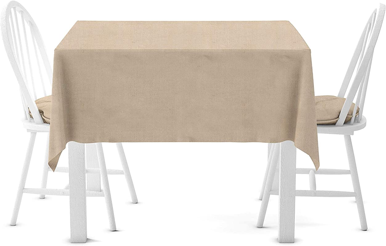 Firefly Craft Rustic Burlap Square Table Cloth 60 Inches By 60 Inches Set Of 1