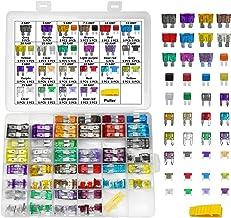 4 Types Car Fuses Assortment Kit - MuHize 200 PCS Automotive Fuses, Standard & Mini & Low Profile Mini (2A/3A/5A/7.5A/10A/...