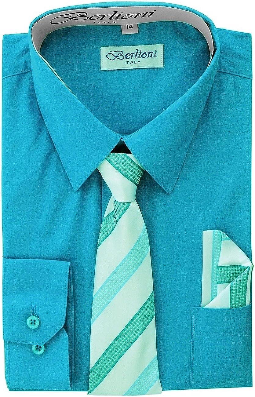 Boy's Dress Shirt, Necktie, and Hanky Set