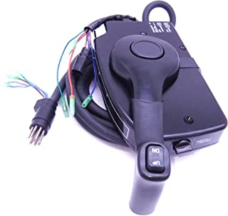 881170A15 Boat Motor Side Mount Remote Control Box with 8 Pin for Mercury Outboard Engine PT, Right Hand